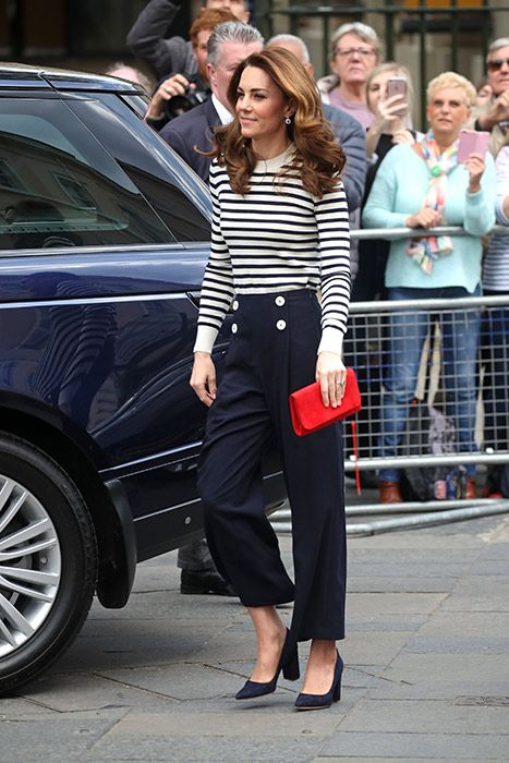Kate Middleton steps out at Cutty Sark to launch sailing competition looking gorgeous in nautical chic | HELLO!