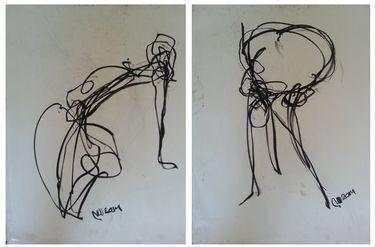 "Saatchi Art Artist Badri Valian; Drawing, ""Nude , Inspired by Andy Warhol"" #art"