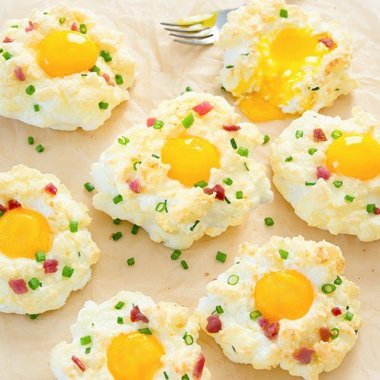 Baked Clouds Egg