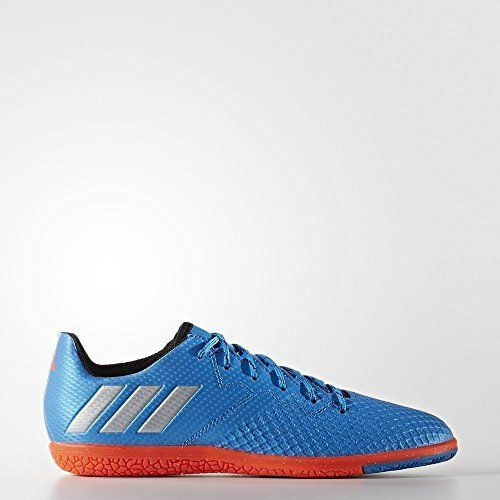 Adidas Performance Kids Messi 16 3 Indoor Soccer Cleats Shock Blue Matte Silver Black 1 M Us Little Kid Boise State Gear Indoor Soccer Cleats Soccer Cleats Cleats