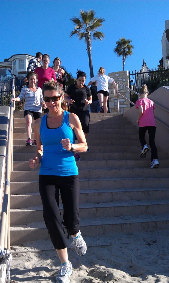 Whenever we are at the beach we always hit the stairs. Jump them. Run them. Side steps. Just do them!