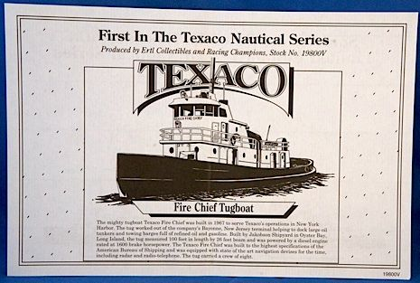 "Texaco ""Fire Chief"" Tugboat Bank"