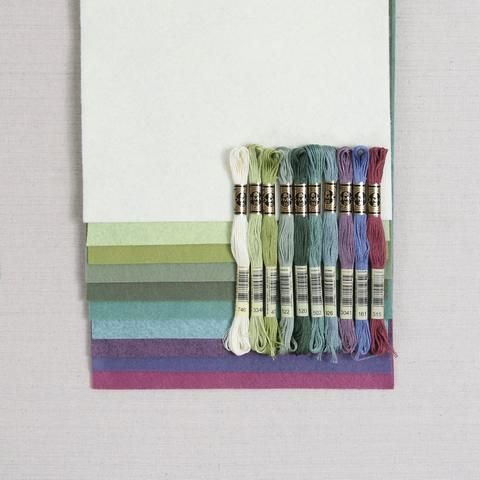 Succulents Benzie Design Dmc Embroidery Floss Wool Felt