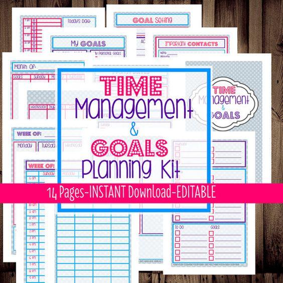 Goal Calendar Diy : Printable planner half size filofax a weekly