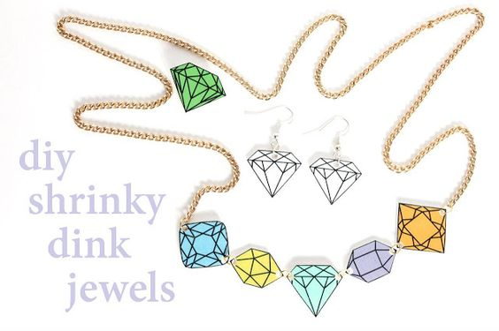 shrinky dink diy jewellery tutorial from Laura on Wrapped Up In Rainbows