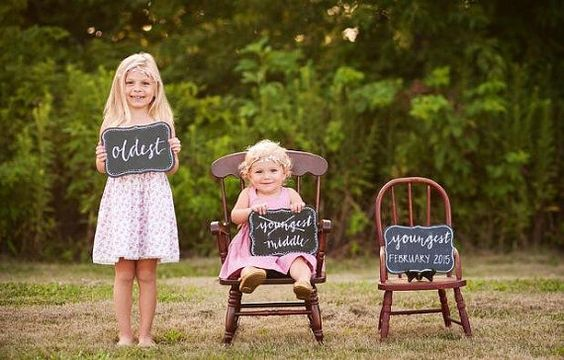 Pregnancy Announcement Signs / 3rd  by 16thAvenueLettering on Etsy