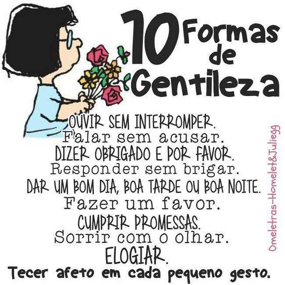 10 Formas de Gentileza