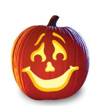 pumpkin carving pattern smile