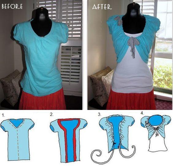 Transformer un T-Shirt pour en faire une top à porter avec une belle petite robe soleil! - Bricolages - Des bricolages géniaux à réaliser avec vos enfants - Trucs et Bricolages - Fallait y penser !