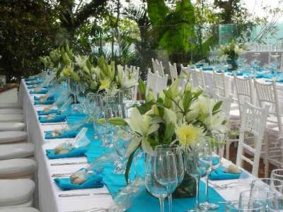 Wedding Reception at Casa Serena in Puerto Vallarta Mexico .  Villa rental by Casa Bay Villas.