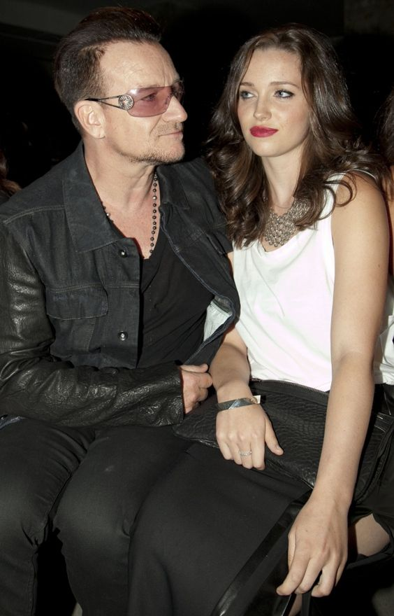 Coolest dad ever? Bono accompanies his daughter Eve Hewson to the Edun fashion show during Mercedes-Benz Fashion Week on Sept. 8 in New York�