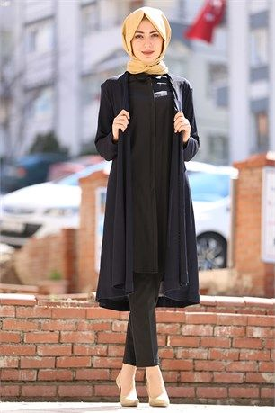 Siyah Tesettur Hirka Modelleri Moda Stilleri Siyah Hirkalar