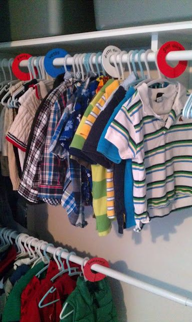 DIY closet organizers (simple!)