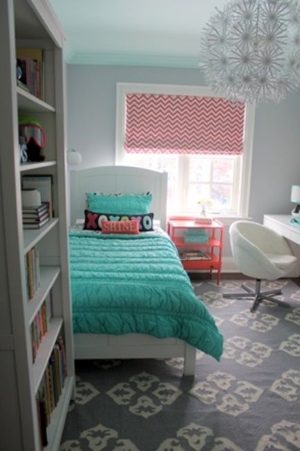 From Junk Room To Beautiful Bedroom The Big Reveal: Turquoise, Girls And Love The