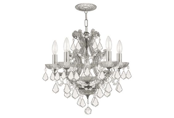 Put this chandelier in a dark hall bathroom or a light bedroom