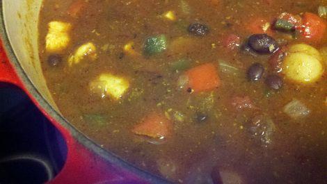 Chicken mole soup