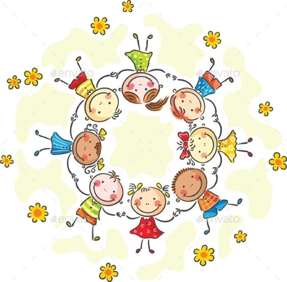 Kids in a Circle - People Characters