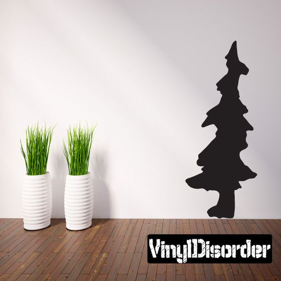 Pine Trees Wall Decal - Vinyl Decal - Car Decal - 046