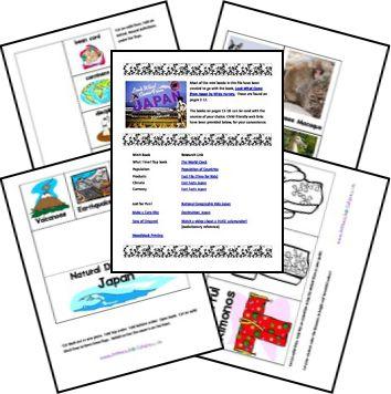 ACTIVITE - Lapbook gratuit sur le Japon: