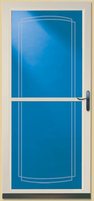 Our new front door tradewinds by larson from lowes with for Door and screen door combo