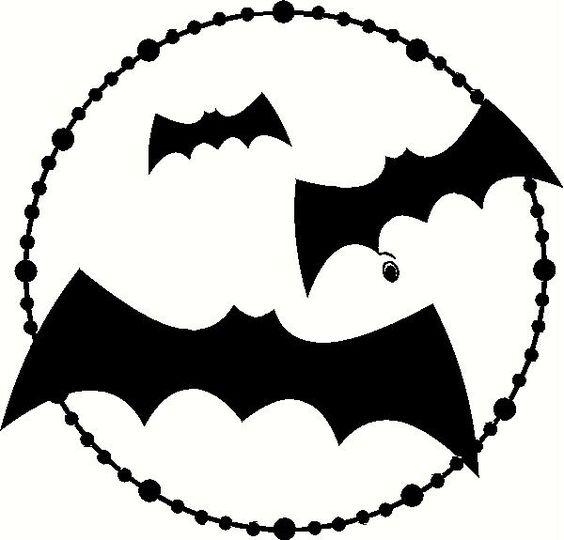 3 Bats in Moon Vinyl Decal | Halloween Vinyl Decals