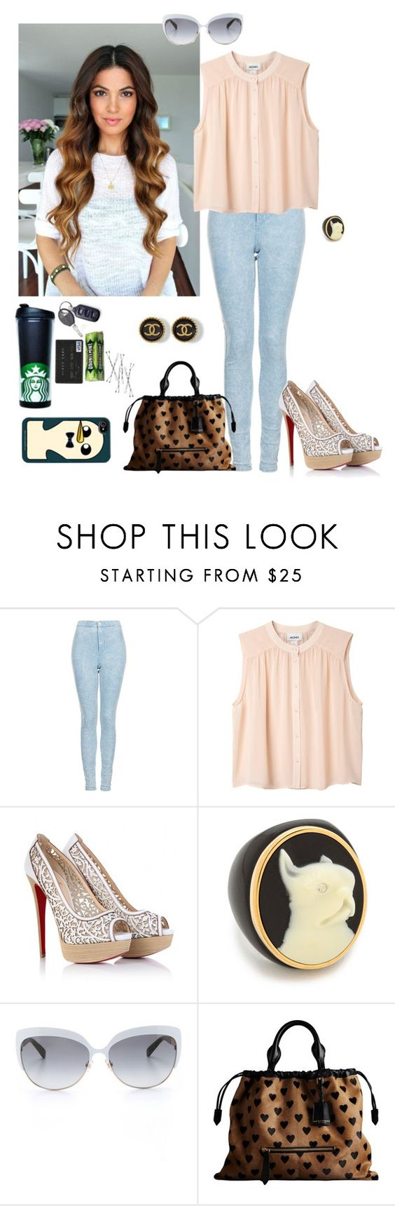 """""""gotta get out, can't stay in the house"""" by dearme-xoxo on Polyvore featuring moda, Topshop, Monki, Christian Louboutin, Marc by Marc Jacobs, Kate Spade e Burberry"""