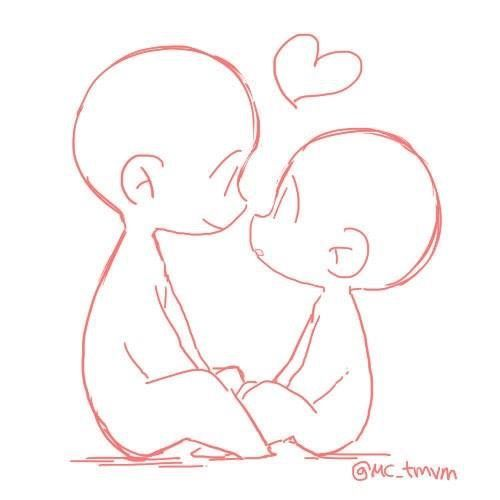 Cute Love Drawing Ideas Visit My Youtube Channel To Learn Drawing And Coloring Cute Drawings Of Love Chibi Drawings Drawing Base
