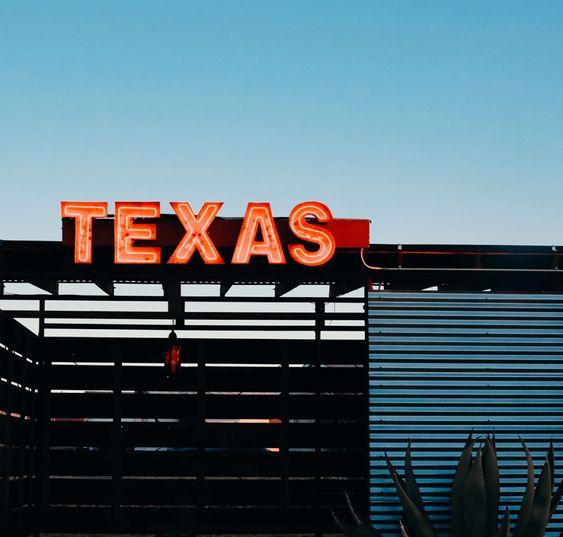West Texas, Marfa, El Cosmico, Neon, Texas