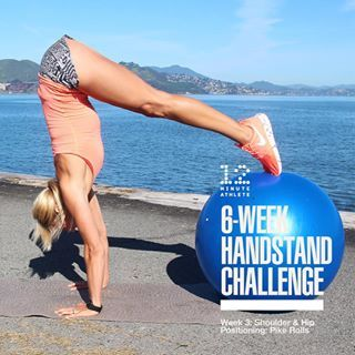 It's week 3 of the 12 Minute Athlete Handstand Challenge already! This week we'll be building on previous weeks where we worked on wall handstands and wrist health and focusing on our shoulder and hip positioning in a handstand with one of my favorite han