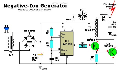 air ionizer schematic electronics Pinterest Search