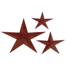 """Crafted of metal in an eye-catching brick-red finish, this classic wall decor showcases a star-inspired design. Product: Small, medium and large star decorConstruction Material: MetalColor: Brick-redDimensions: Small: 14"""" H x 18"""" W x 2"""" DMedium: 18"""" H x 24"""" W x 3"""" DLarge: 28"""" H x 36"""" W x 5"""" DNote: Not recommended for outdoor useCleaning and Care: Wipe with dry cloth"""