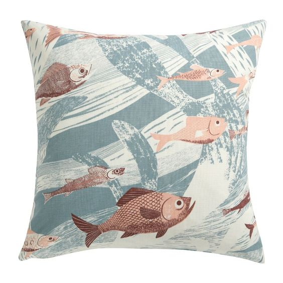 SALE St Judes Cushion Cover Deep Sea Coral/Blue from www.illustratedliving.co.uk
