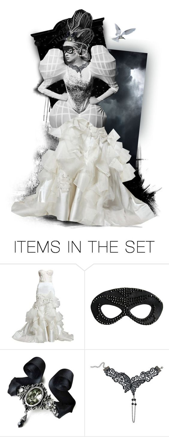 """""""again"""" by mutterfly ❤ liked on Polyvore featuring art, Masquerade, expression, dollset and musicinspired"""