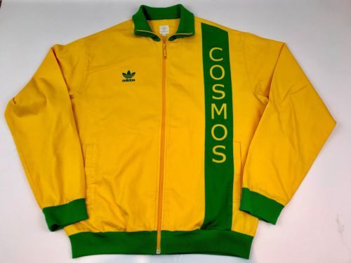 Adidas York Yellow Green Vintage Originals Jacket New Cosmos