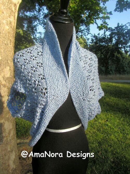 A light shrug to no warm on a cool summer night.  #handknittedshrug #AmaNora-designs.squarespace.com