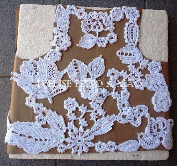 New Irish Crochet Vest in White! inspirational Ideas on how to...