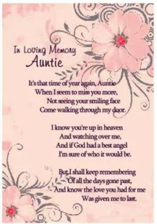 My aunt in heaven. | my loved ones in heaven ...
