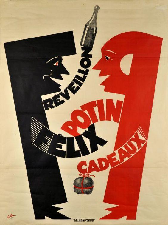 De Coulon Eric / 1930 Réveillon Félix Potin cadeaux