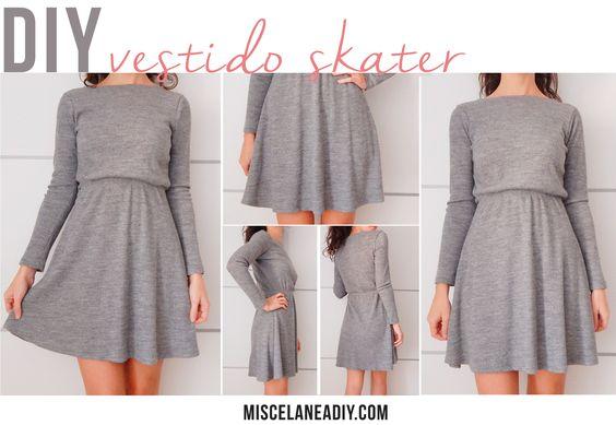 DIY sewing   Vestido Skater   Skater Dress
