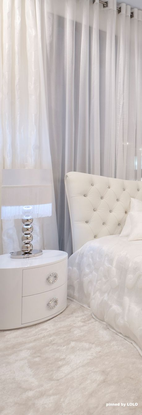 White bedroom: