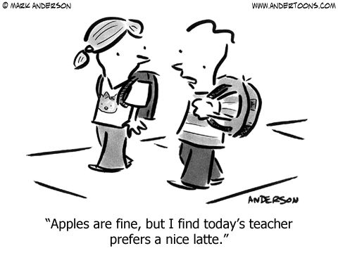 Great cartoon!: Funny Teacher, Teacher Funnies, Chai Latte, Teacher Cartoon, Student, Nice Latte, Today S Teacher, So True, Teacher Humor