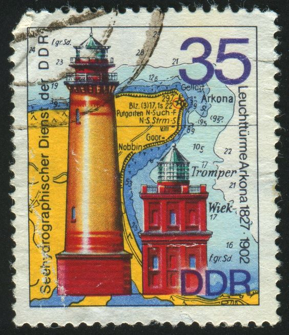 German Stamp - Red Vinyl Print