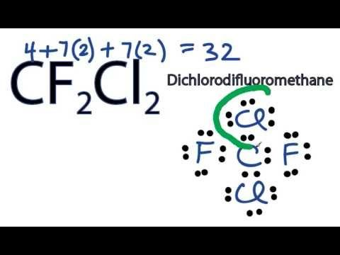 Cf2cl2 Lewis Structure How To Draw The Dot Structure For Cf2cl2 Dichl Dots Lewis Drawings