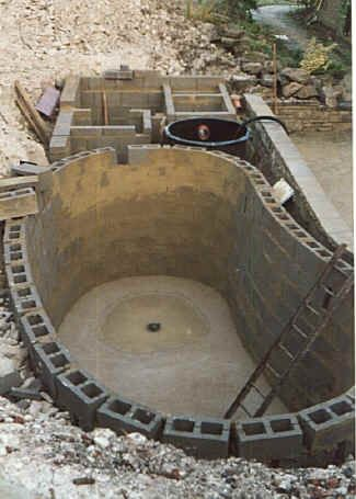 Koi pond construction jus 39 country boys girls gettin for Fish pond construction ideas