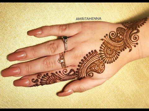 25 EASY MEHENDI DESIGNS FOR BEGINNERS