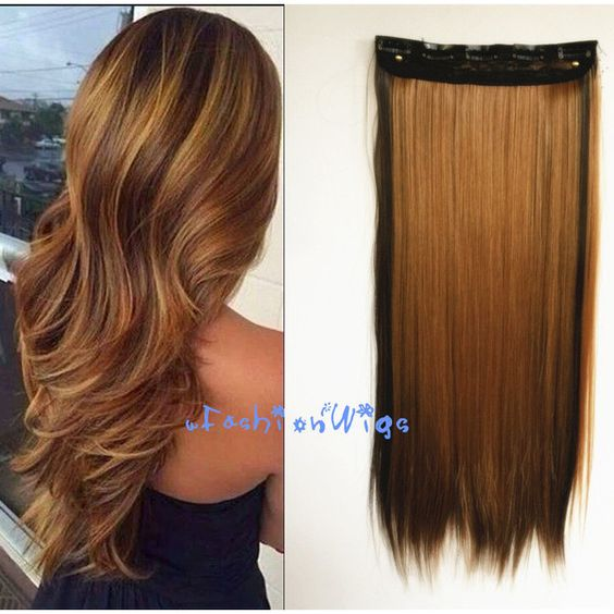 Honey Blonde Mixed Dark Brown Two Colors Balayage Ombre Hair Extension... (€8,07) ❤ liked on Polyvore featuring beauty products, haircare, hair, hair styles, bath & beauty, dark olive, hair care and hair extensions