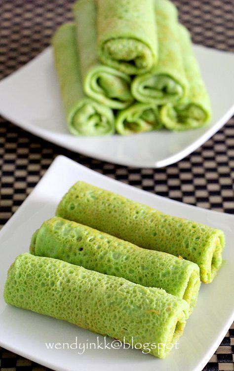 This Kuih Goes By Many Names Kuih Ketayap Kuih Dadar Kuih Gulung And My Ex Students From Selancar Calls Them Kuih Hijau Mala Food Delish Recipes Malaysian Food