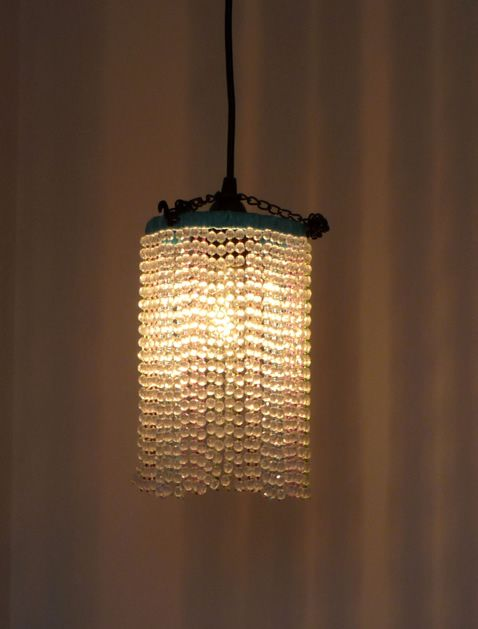 how to diy beaded pendant light love love love the simplicity of these beaded lighting