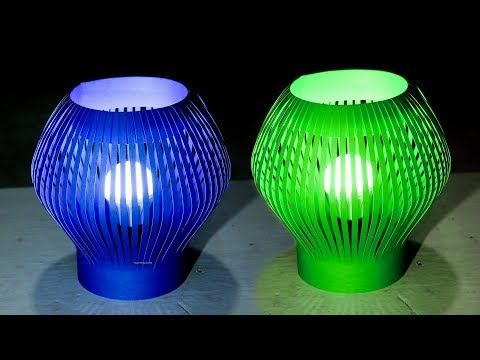 Wow Large Super Decorative Lamp Bermodal Paper Youtube Lamp Decor Lamp Plastic Bottle Crafts