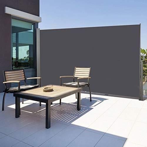 Paravent Retractable 1 6 X 3 M Gris En 2020 Paravent Exterieur Stores Verticaux Et Decoration Maison